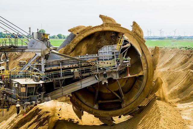 těžba písku